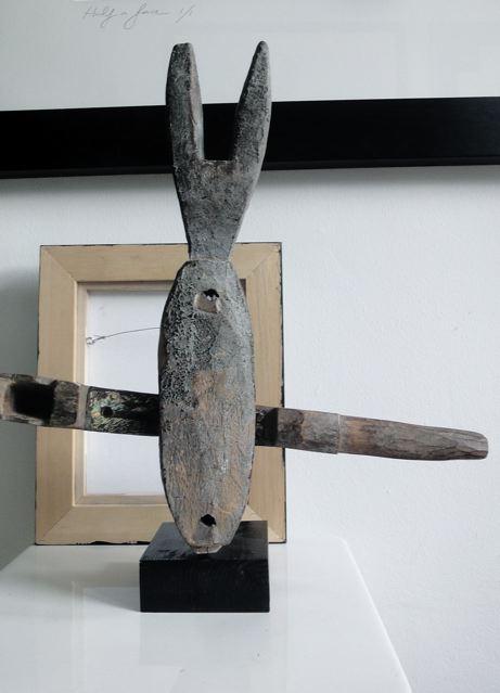 Object hout gepatineerd slot uit Afrika