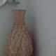 Vaas in verfijnd mozaïek van verschillende tinten parelmoer H55